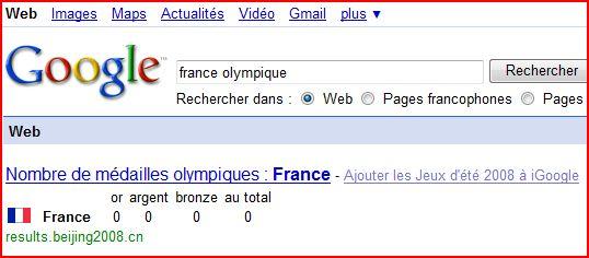 la france 0 medaille