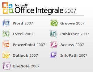 Office Intégrale 2007 pour les étudiants à 52 euros