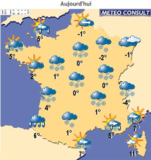 Le site de m��t��o France victime de la neige - Internet - Articles.