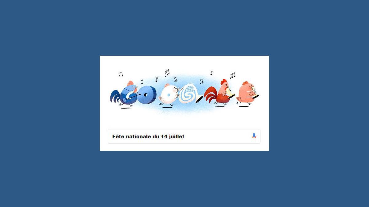 Doodle fête nationale du 14 juillet 2018