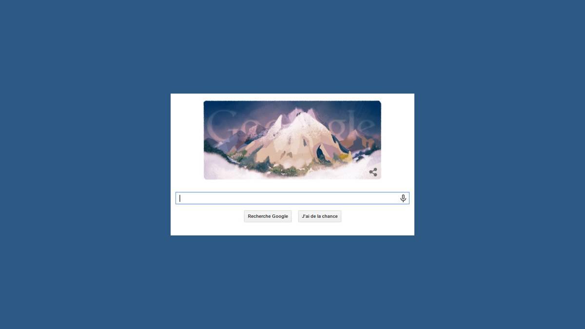 Doodle première ascension du mont Blanc