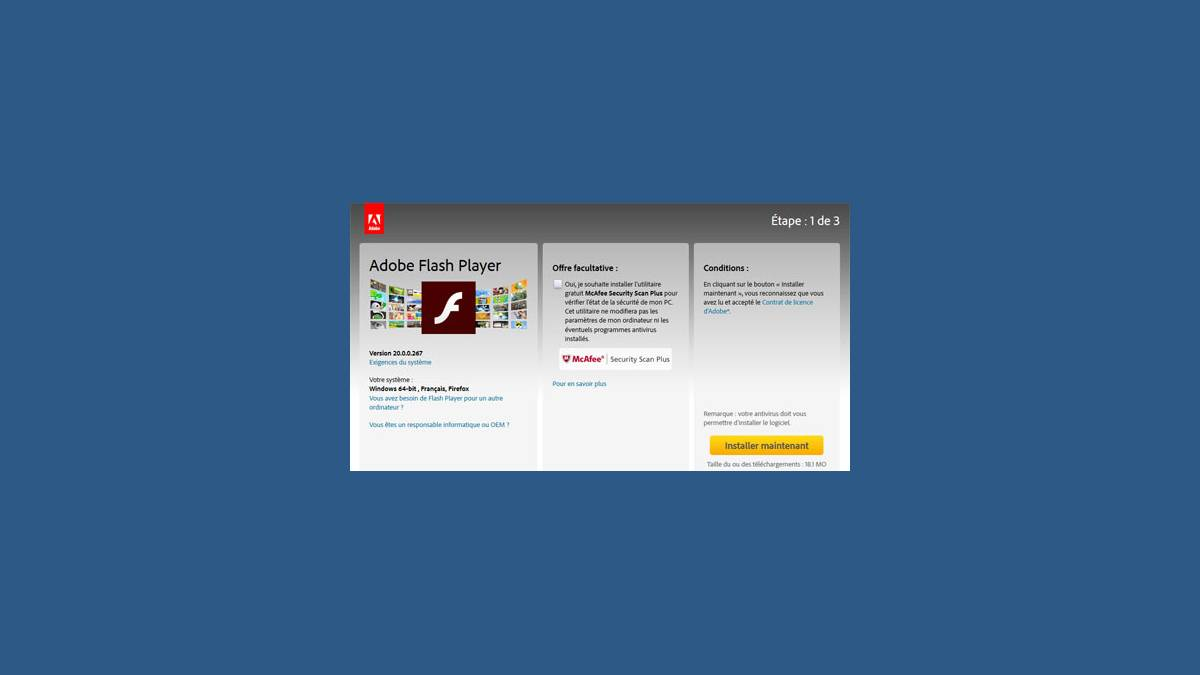 Faille de sécurité Adobe Flash Player 20