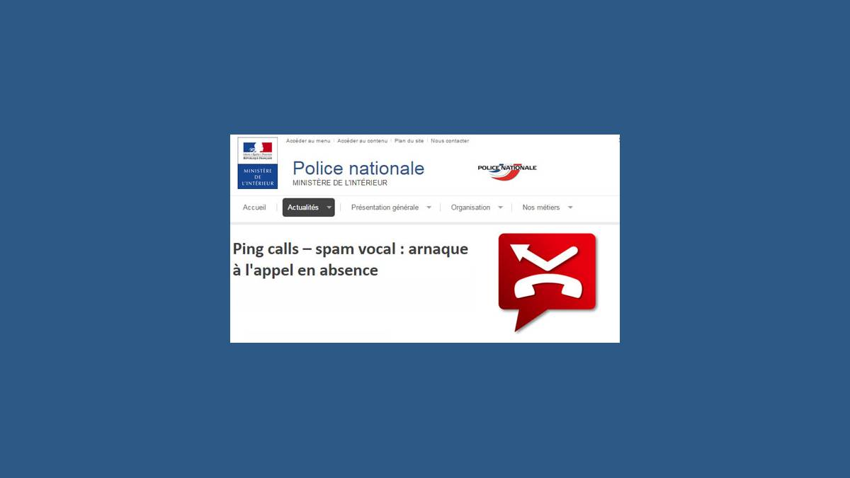 Ping Call Spam vocal et arnaque mobile