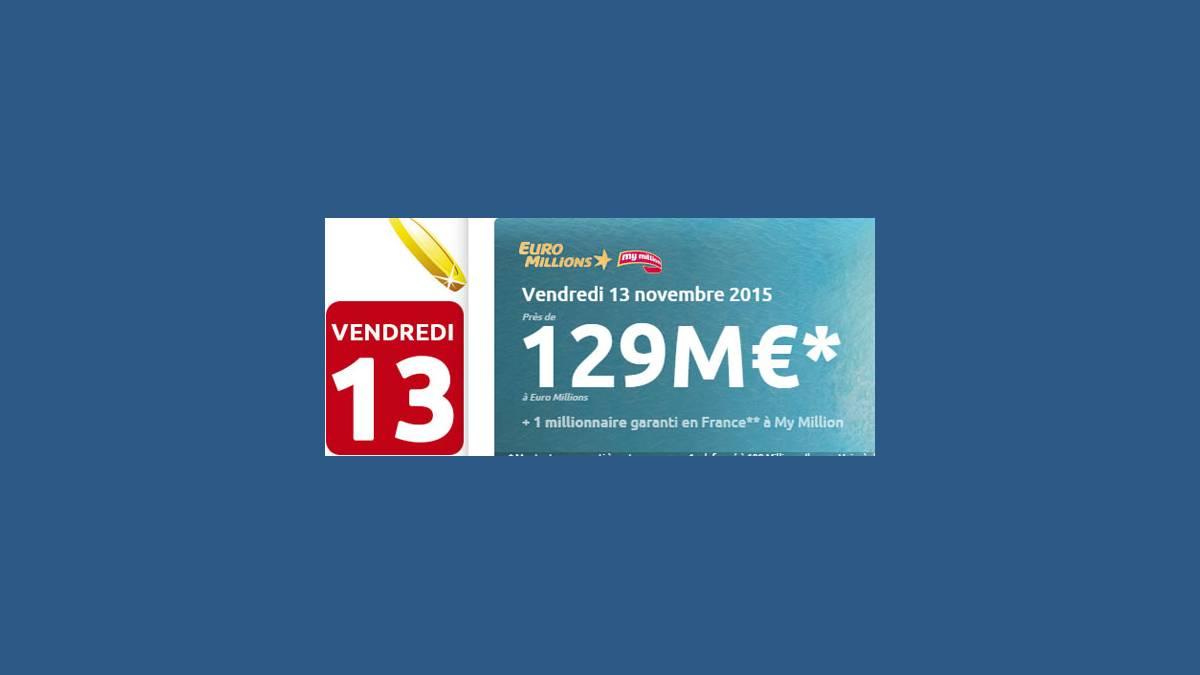 Euro Millions FDJ vendredi 13