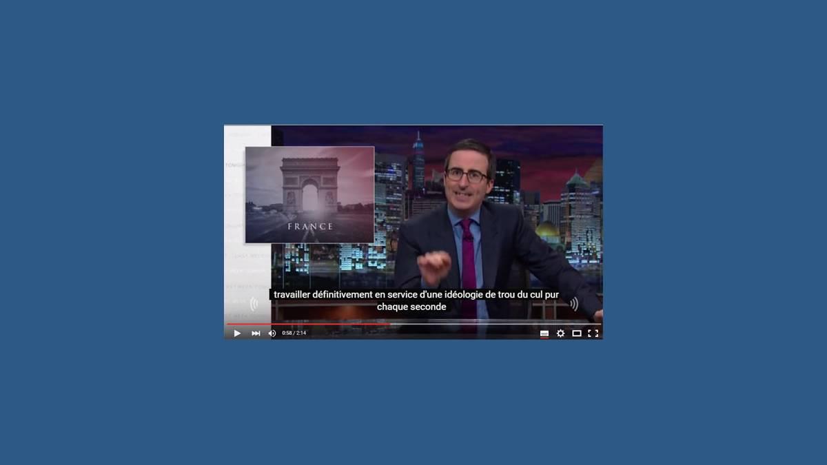 John Oliver Paris Attacks sur YouTube