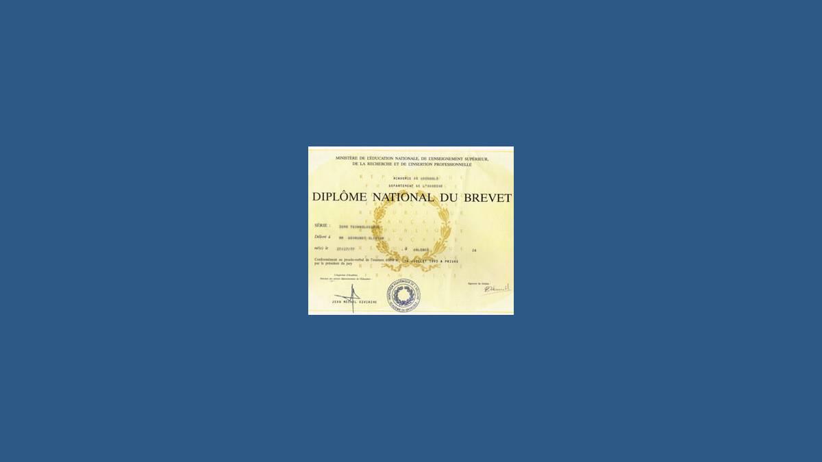 DNB 2015 (illustration diplôme national du brevet)