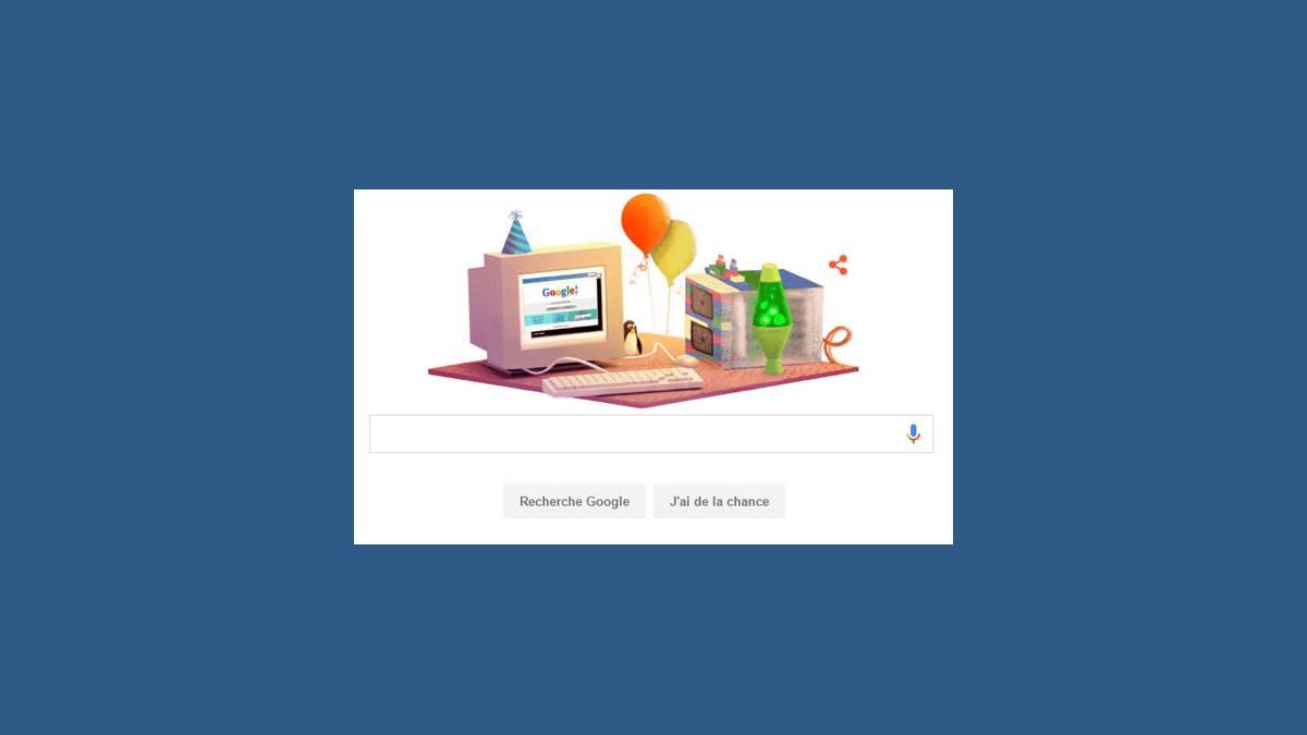 Doodle joyeux anniversaire Google