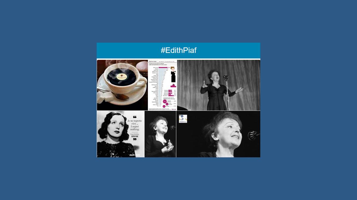 Édith Piaf photos sur Twitter