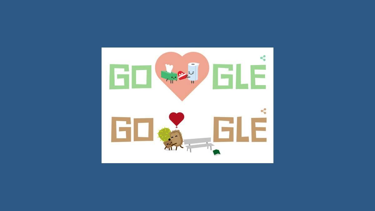 Saint Valentin, Google, Doodle