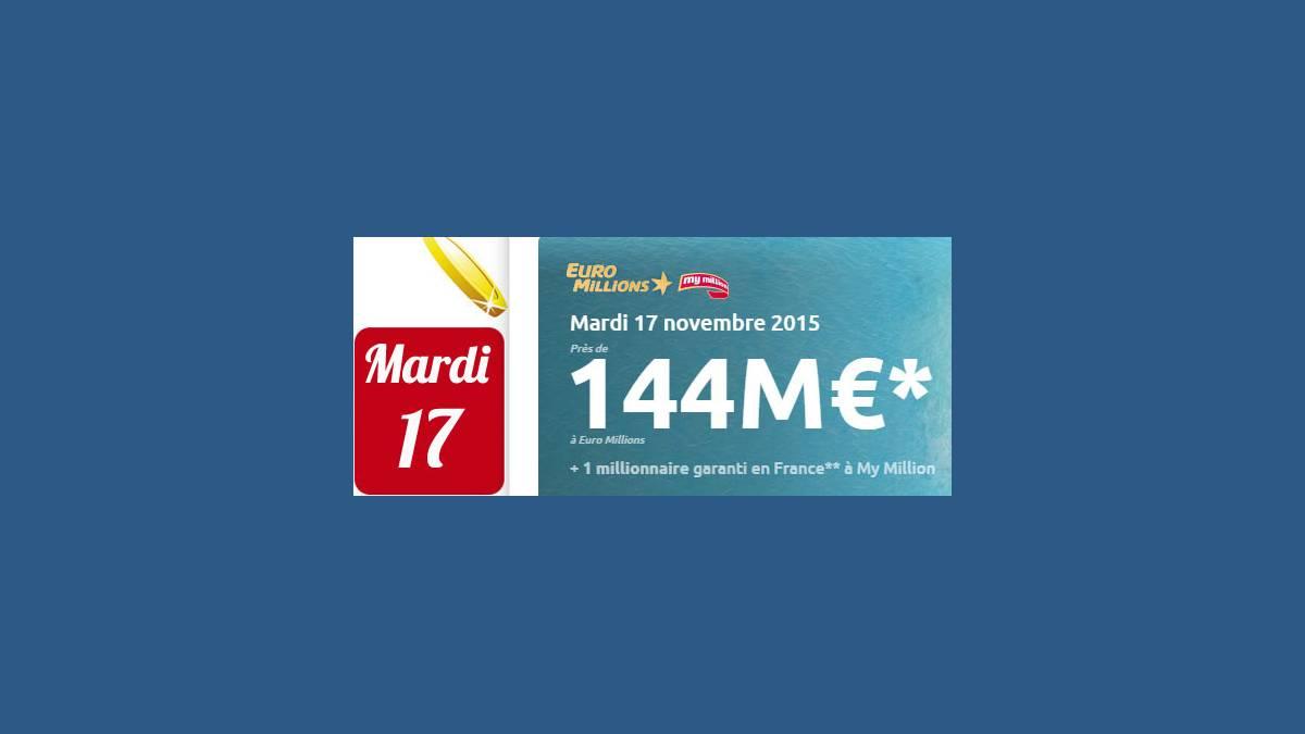 Euro Millions FDJ mardi 17