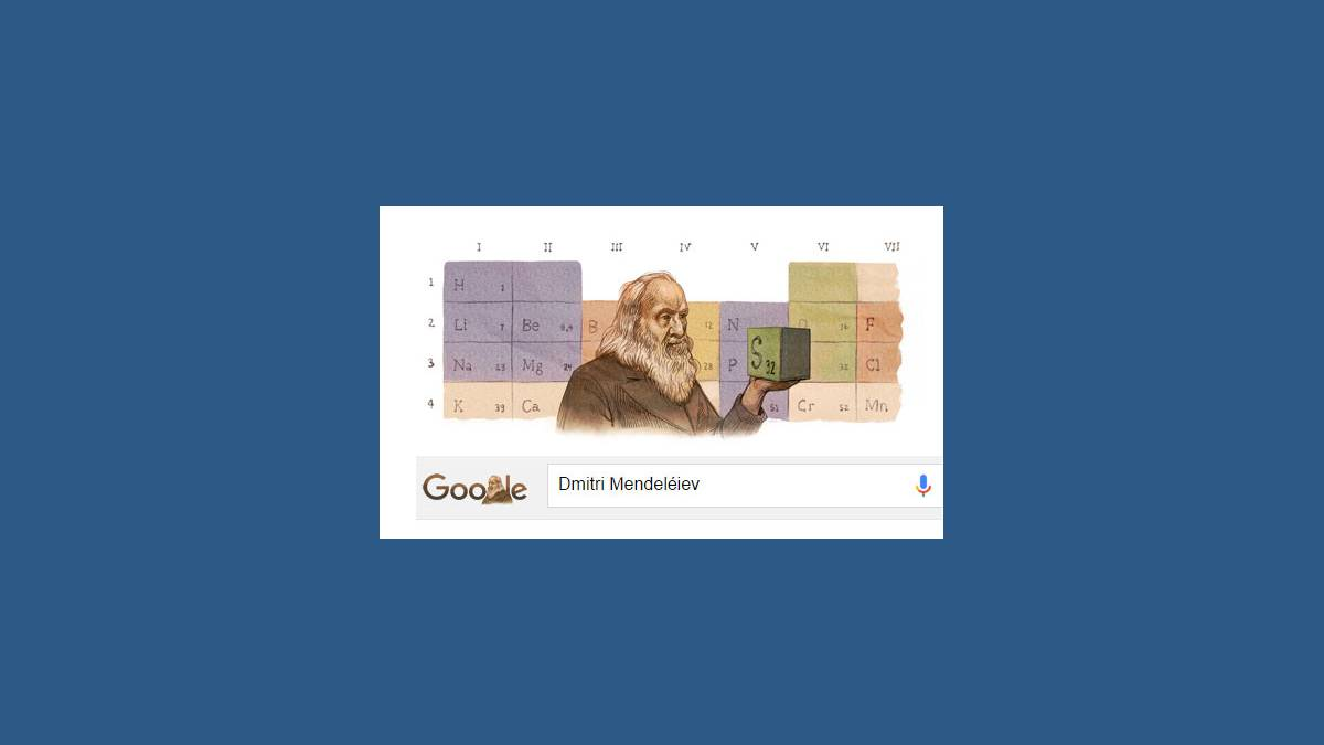 Doodle Dmitri Mendeléiev