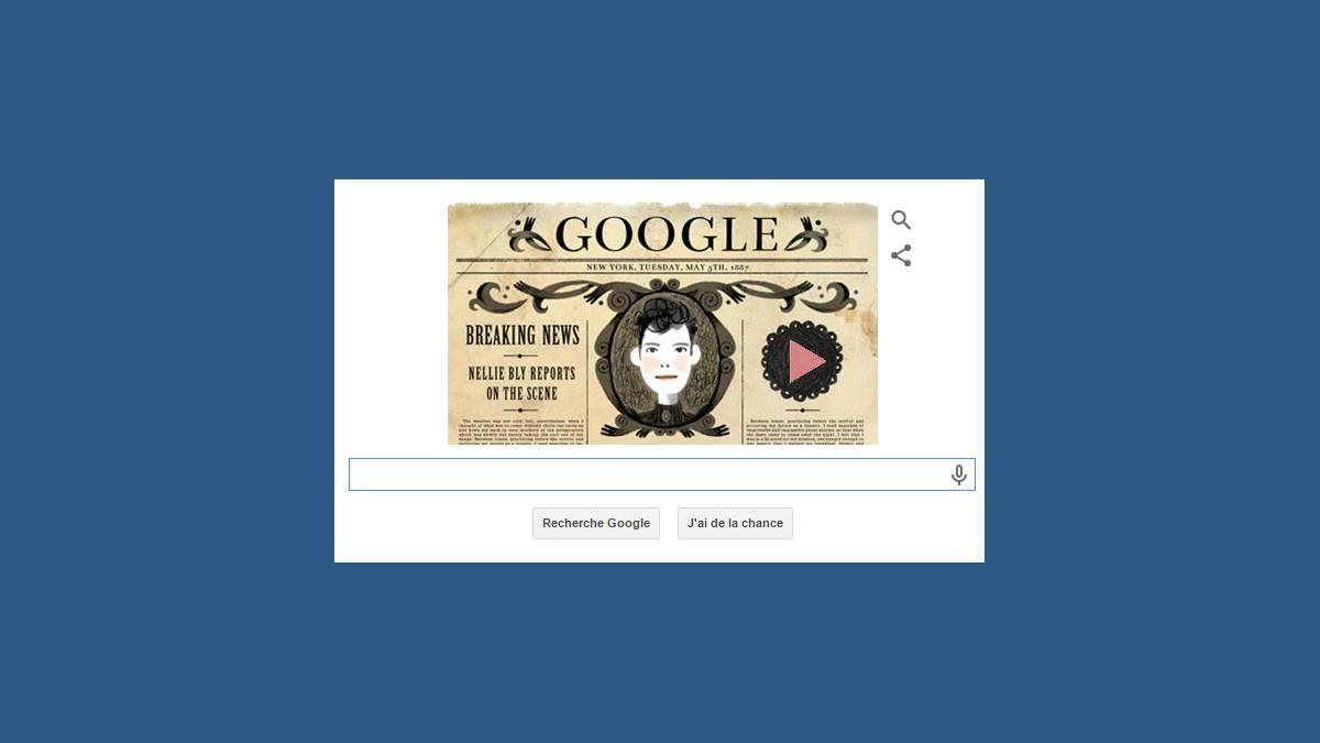 Le Doodle animé et musical Nellie Bly