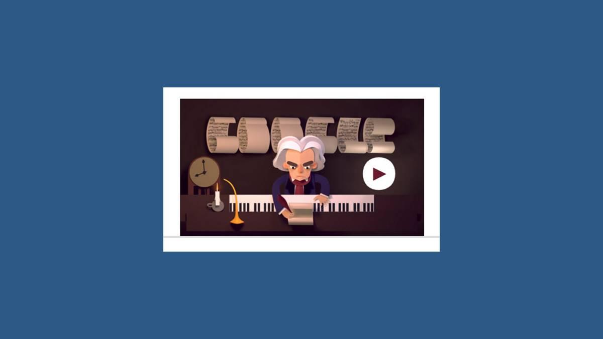 Doodle animé Beethoven