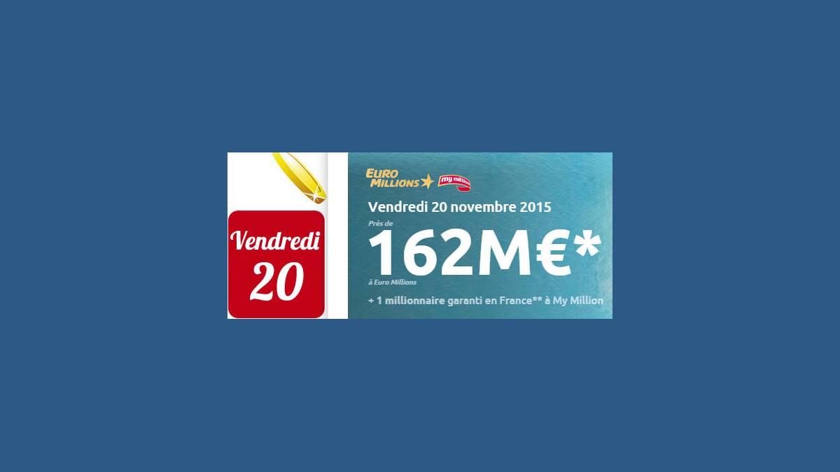 Euro Millions FDJ vendredi 20