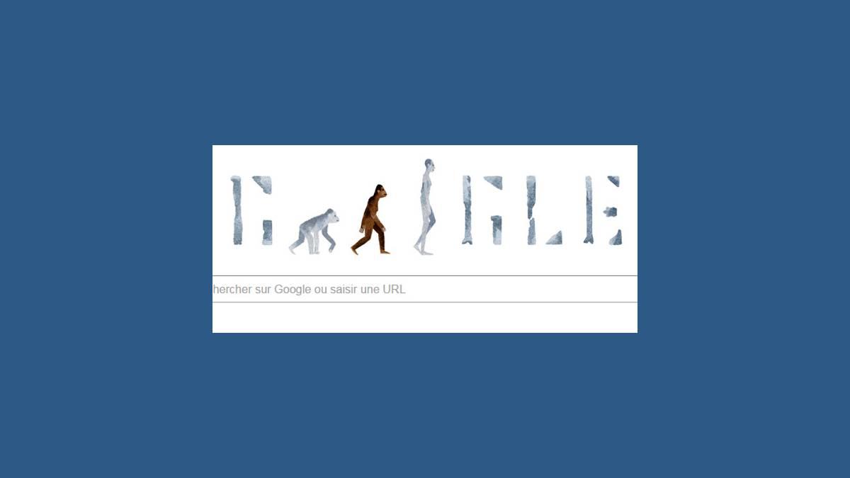 Doodle Australopithèque de Lucy