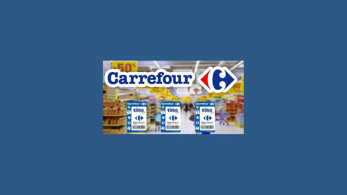 Arnaque Facebook Carrefour bon 500 €