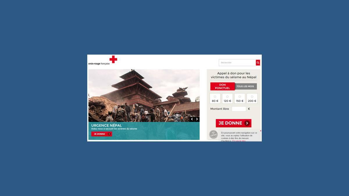 Appels aux dons pour le Népal (Croix rouge)