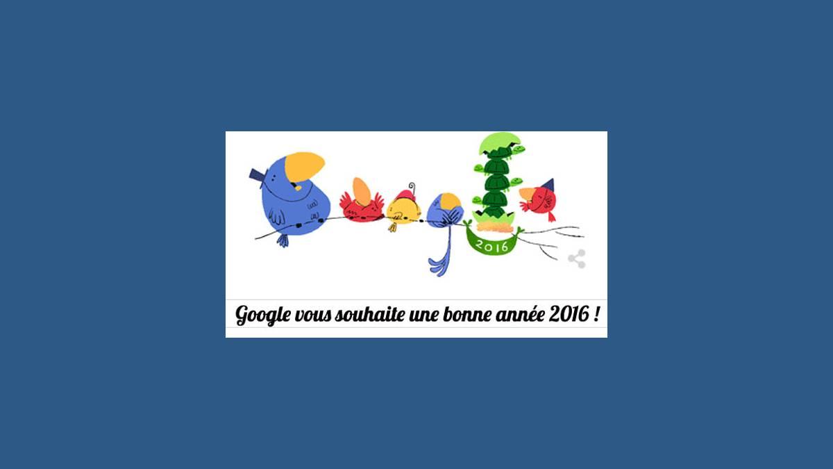 Google vous souhaite une bonne année 2016 !