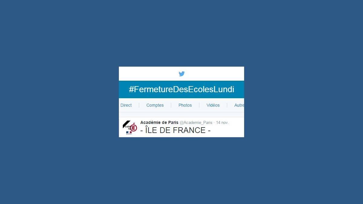 Twitter Fermeture Des Ecoles Lundi