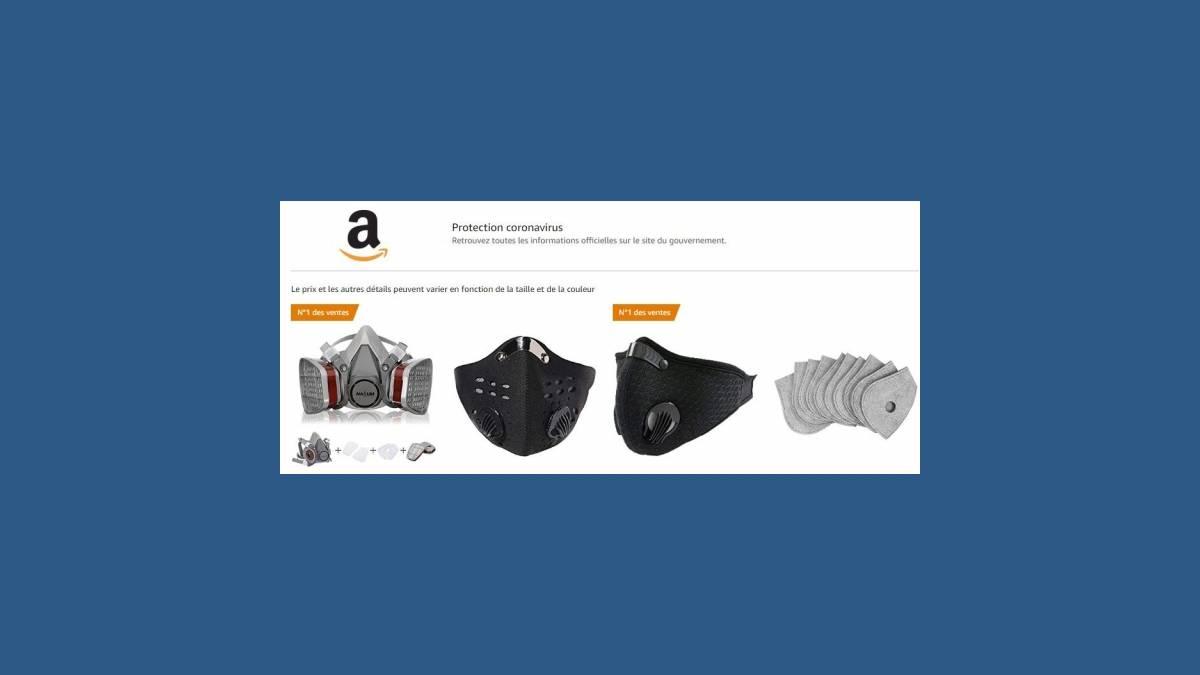 Amazon masque de protection Coronavirus