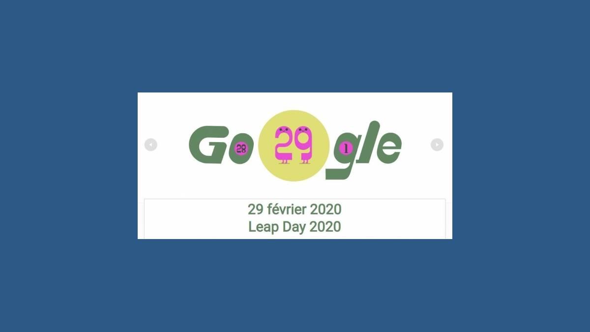 2020, Année bissextile « Leap Day 2020 » Doodle Google