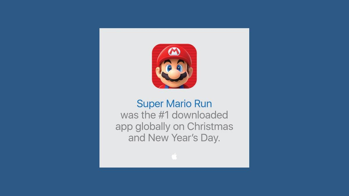 Record Super Mario Run 1er janvier