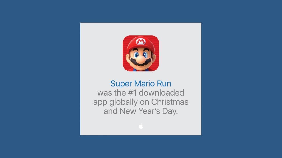 Record Super Mario Run 1er janvier
