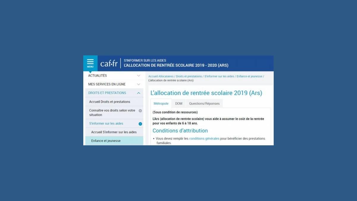 ARS 2019 - 2020 les chiffres clés de la CAF