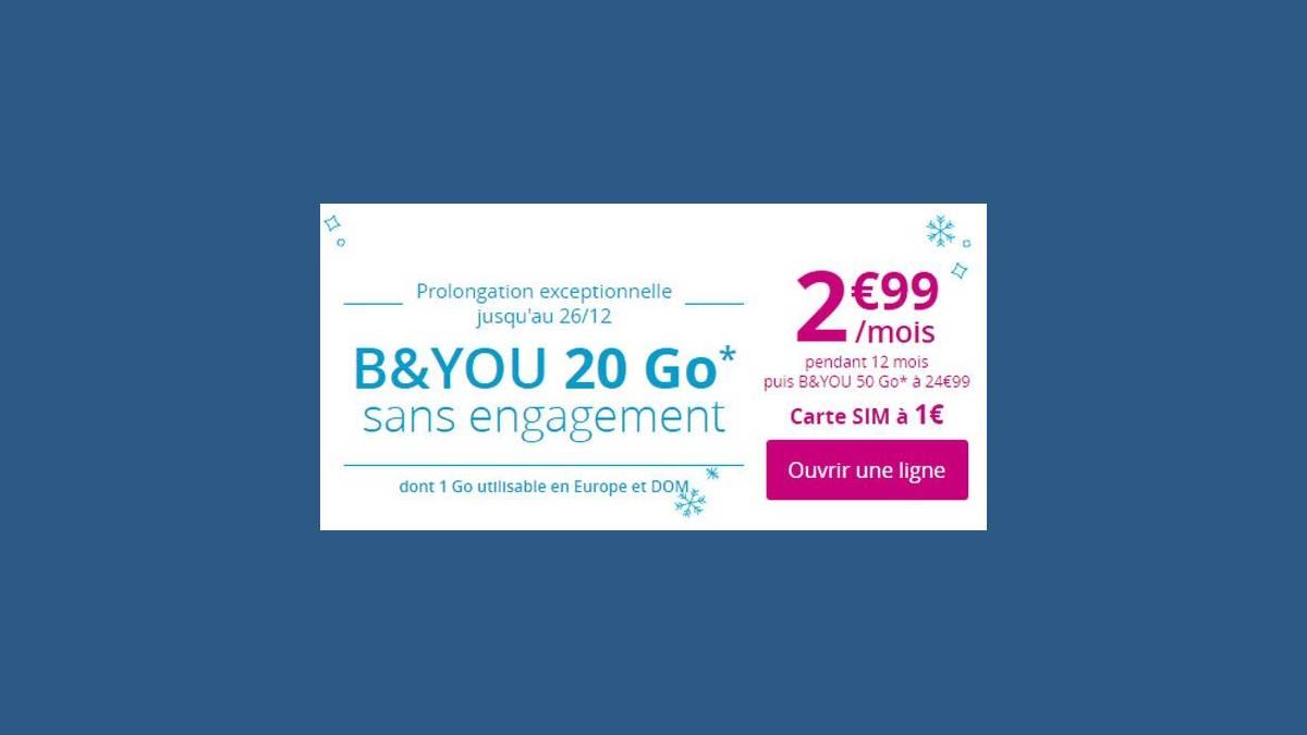 B&You série spéciale 20Go à 2,99 euros
