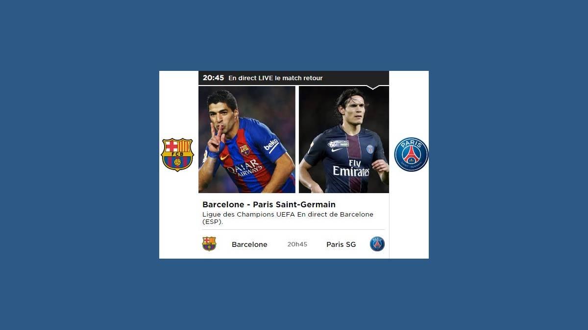 Barça – PSG match retour à 20h45