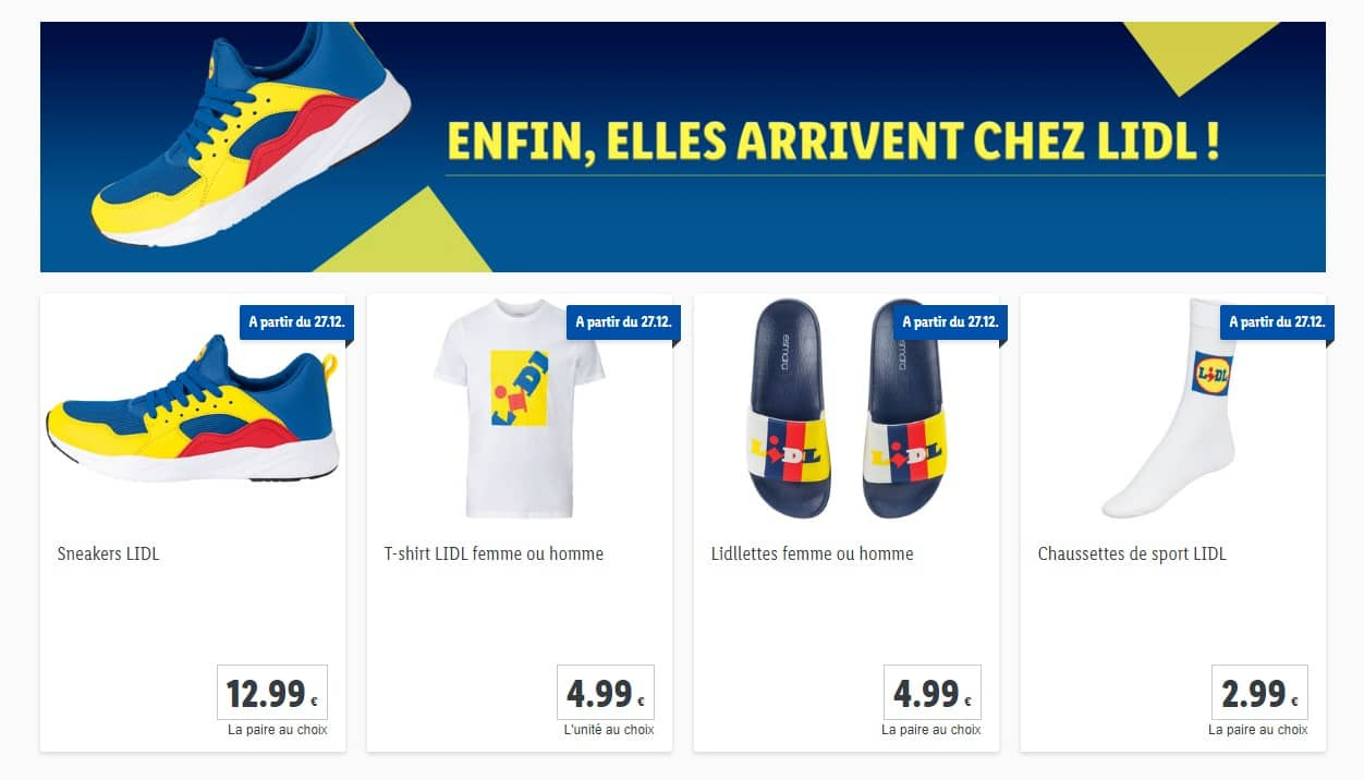 Sneakers Lidl – La collection Lidl