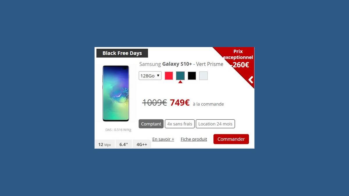 Samsung Galaxy S10+ Black Free Days