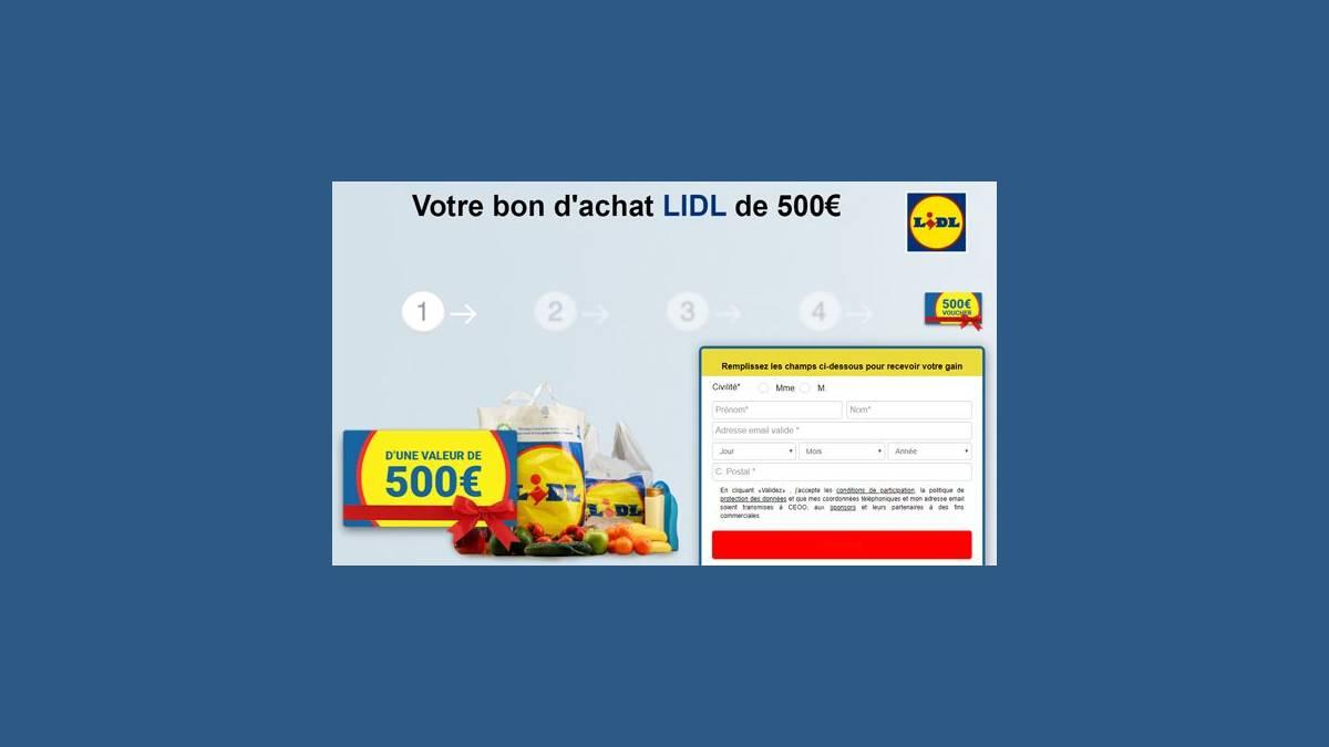 Votre bon d'achat LIDL de 500€ - Facebook