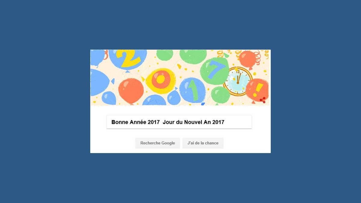 Bonne Année 2017 – Doodle Jour du Nouvel An