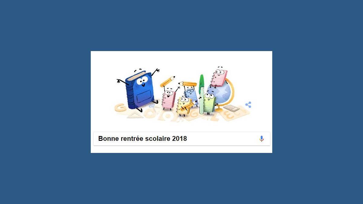 Doodle, Google Bonne rentrée scolaire 2018
