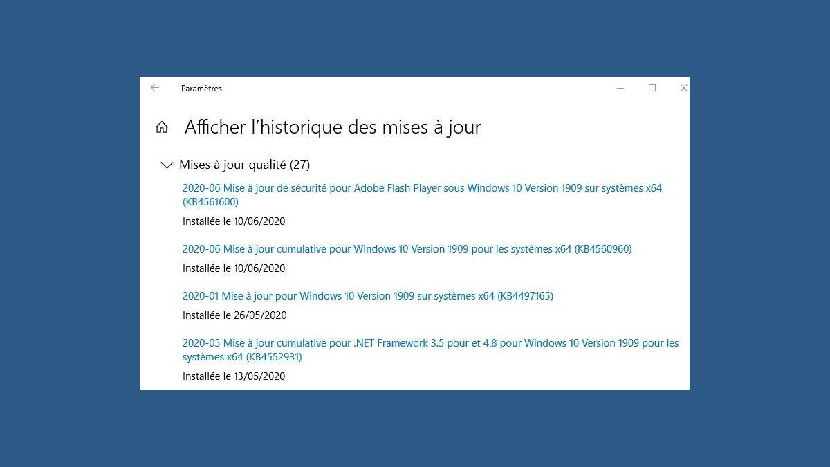 Bug impression Windows 10 avec KB4557957 et KB4560960