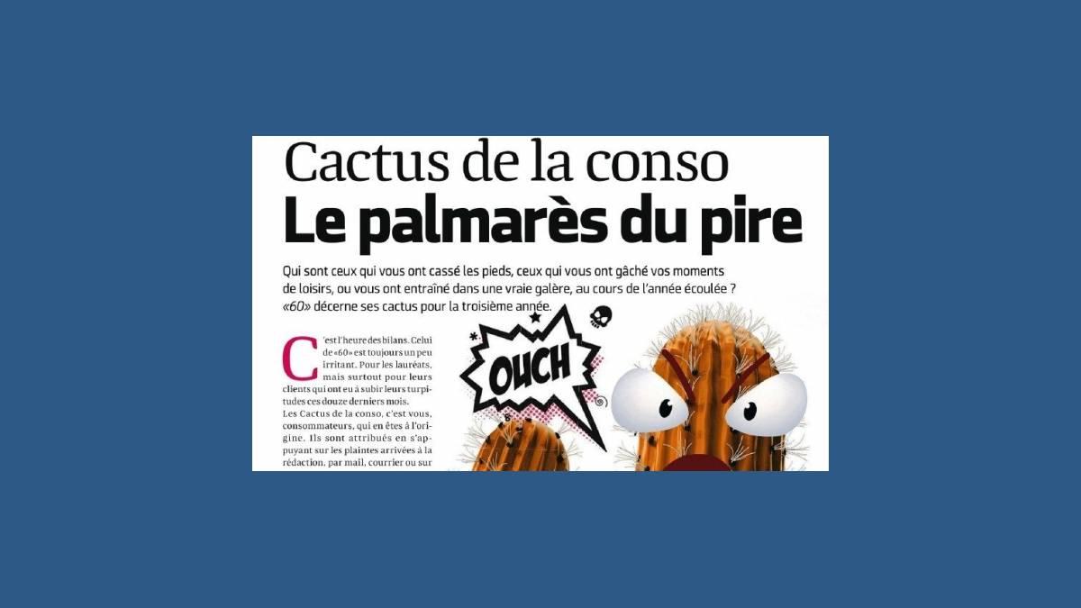 Cactus d'or 2019 de 60 millions de consommateurs