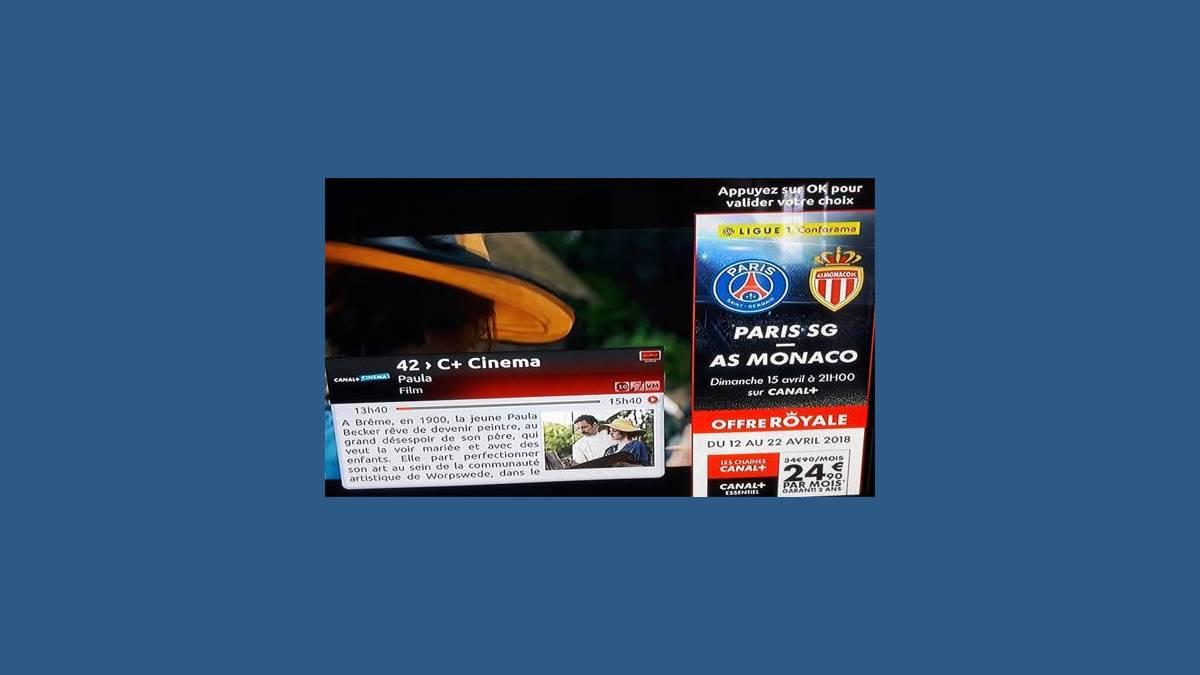 Capture Canal Plus sur TV Samsung