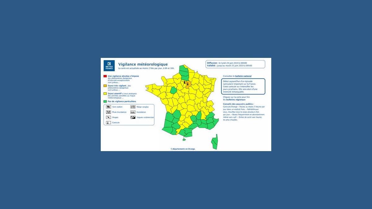 Météo France : alerte orange à la canicule