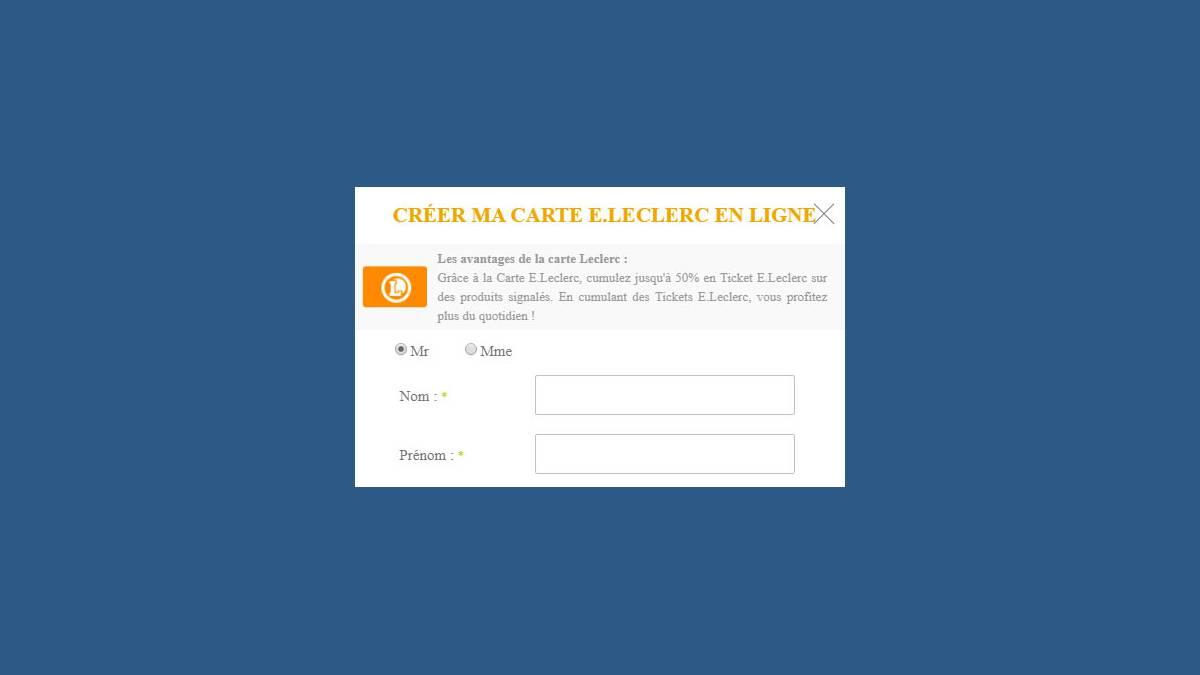 Carte de fidélité Leclerc (capture-écran)