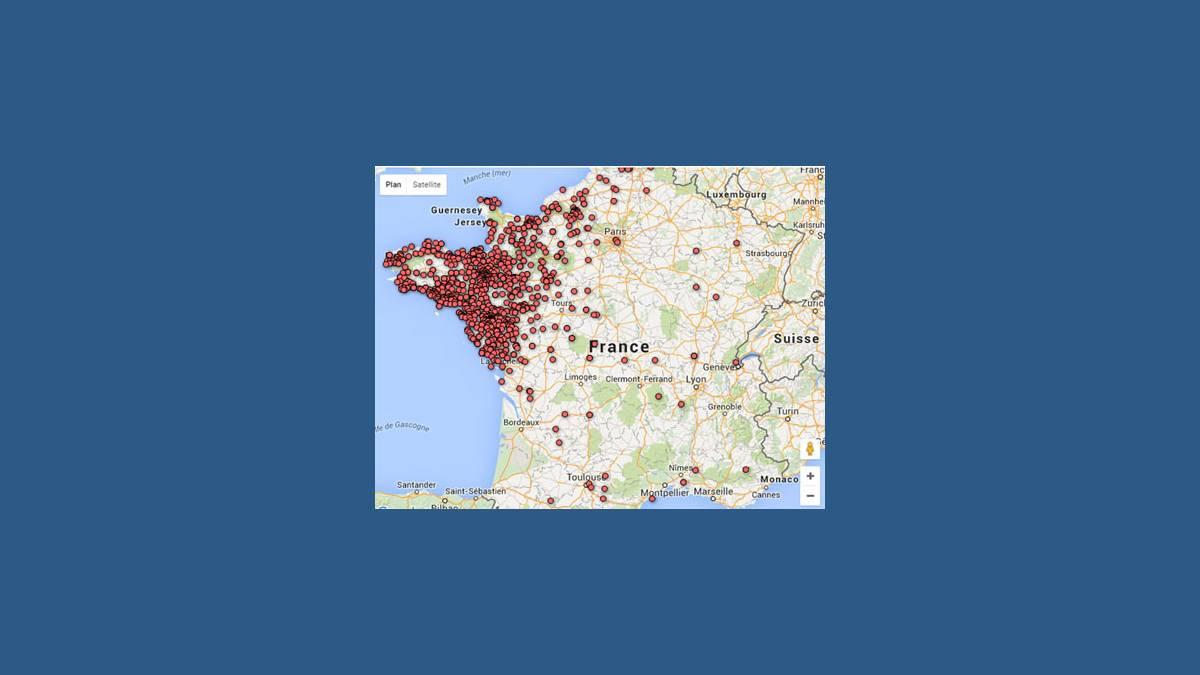 Carte des stations-service à sec