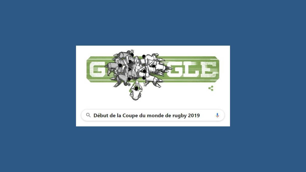 Doodle début de la Coupe du monde de rugby 2019