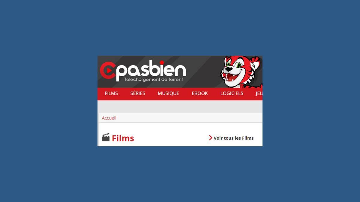 Capture image du site Cpasbien