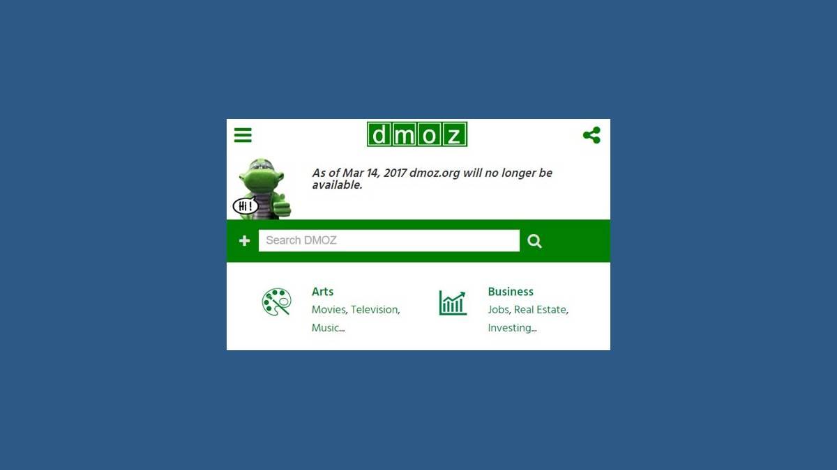 Fermeture de DMOZ le 17 mars prochain