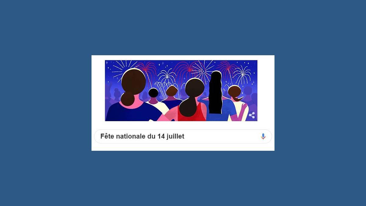 Doodle fête nationale du 14 juillet 2019