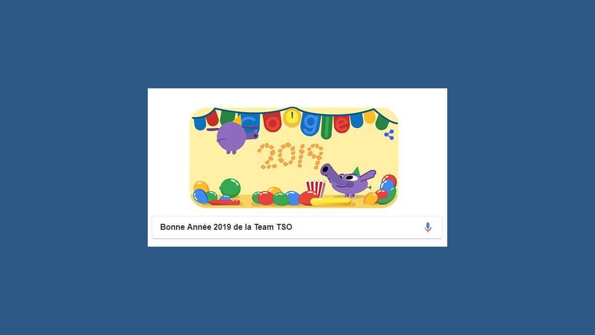 Bonne Année 2019 – Doodle Jour du Nouvel An