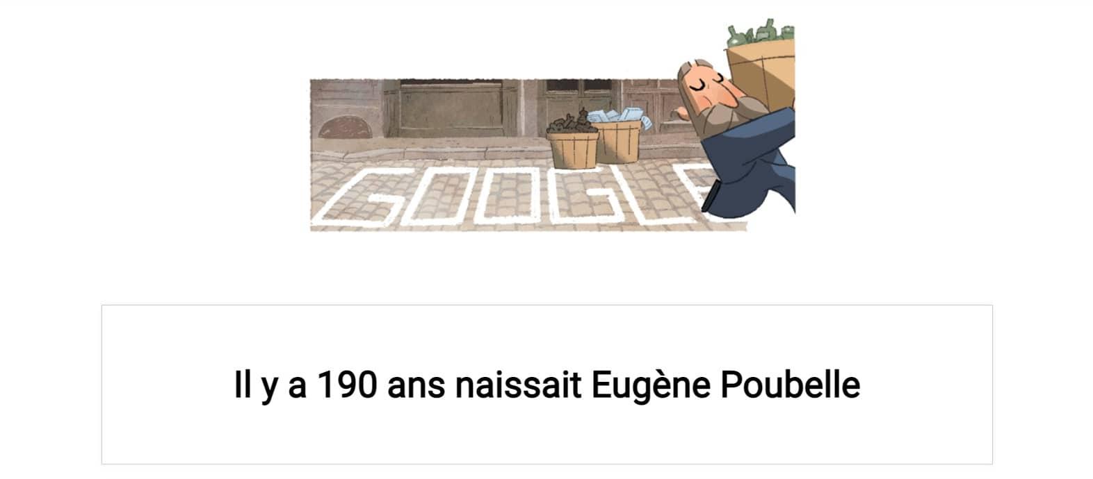Doodle Eugène Poubelle et le tri sélectif