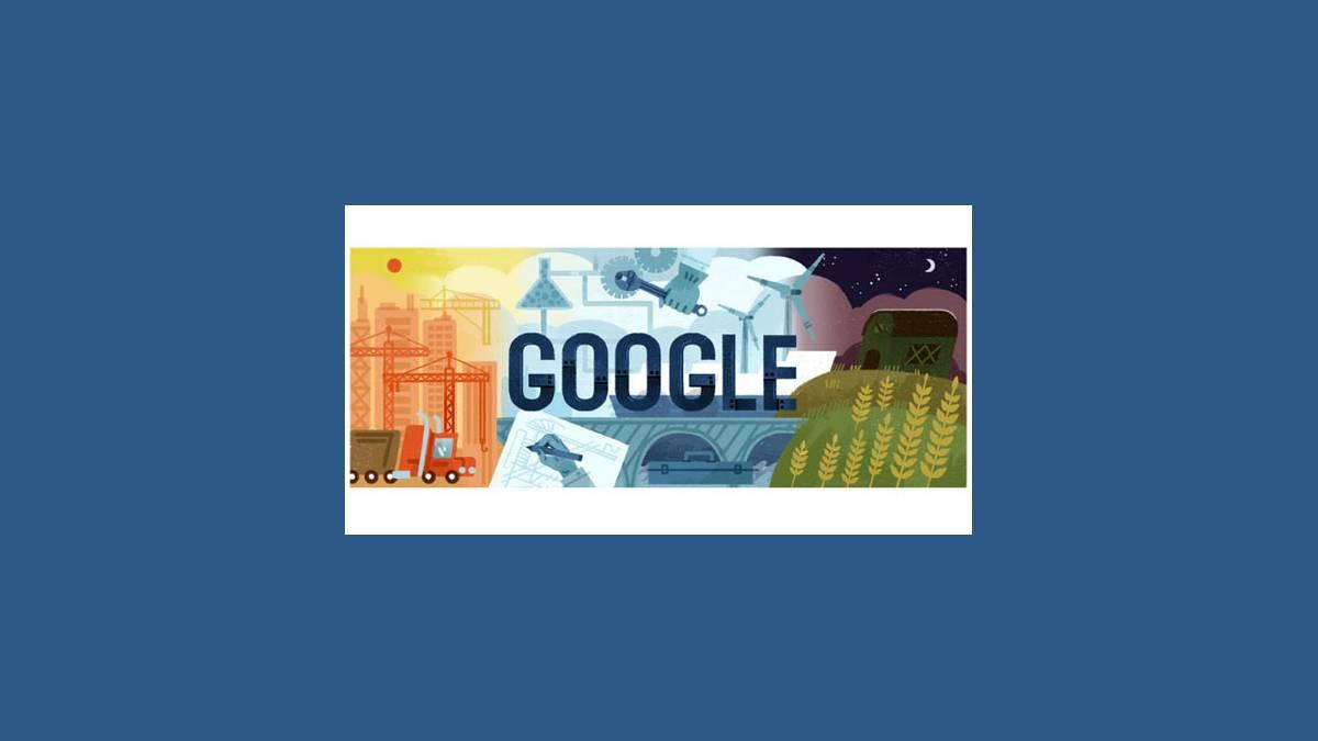 Doodle fête du Travail 2017 sur Google