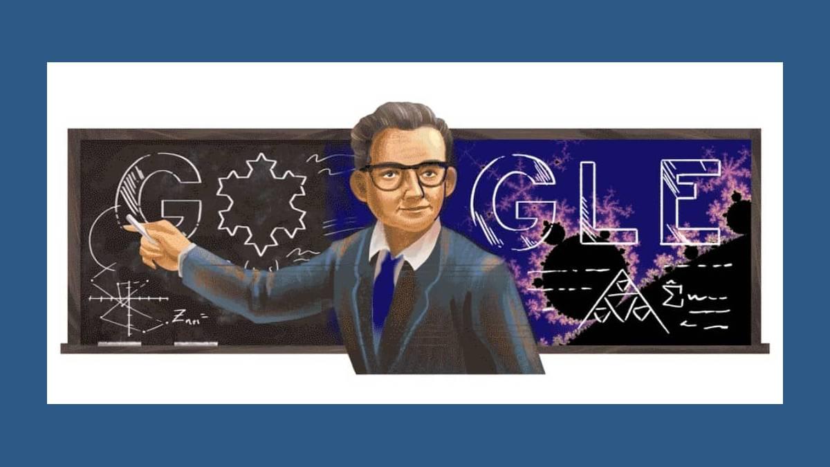 Doodle Benoît Mandelbrot sur Google.fr