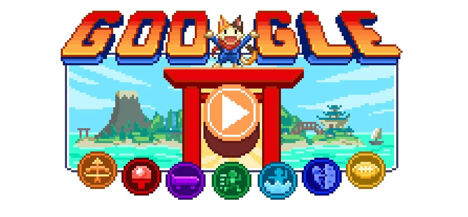 Google, Doodle, JO 2020 de Tokyo, Jeux Doodle de l'île des Champions